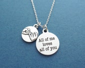 Pinky, Promise, All of me loves all of you, Necklace, Pinky promise, Jewelry, Birthday, Valentine's day, Gift, Firndship, Accessory, Jewelry