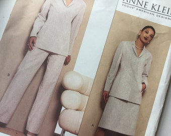 Vogue Sewing Pattern, American Designer 2622, Anne Klein Jacket, Skirt and Trousers, Uncut Size 6-8-10