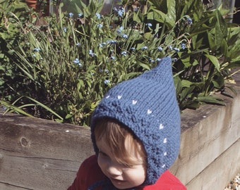The Hatchling Knitted Pixie Baby Bonnet