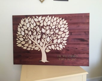 Wedding Guest Book Alternative 3D Unique Wedding Guestbooks Wooden Tree Guest Book