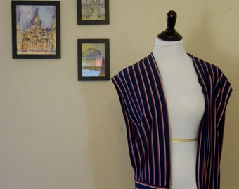 Vintage Striped Vest with Tie