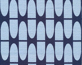 NEARLY SOLD OUT Barkcloth fabric Cloud9 In Theory Half Life in blue organic cotton Sold by half metre