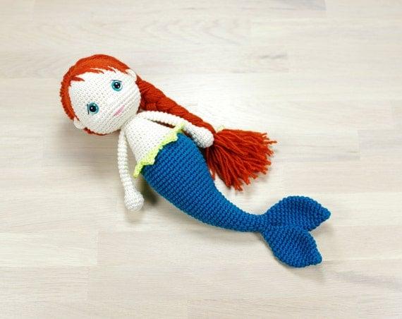 Amigurumi Mermaid Pattern : PATTERN: Mermaid Amigurumi doll pattern EN-072