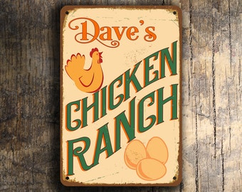 CUSTOM CHICKEN COOP Sign, Personalized Chicken Coop Sign, Vintage style Chicken Coop Sign, Customizable Signs, Custom Outdoor Sign, Chicken