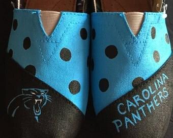 Custom Shoes - Carolina Panthers - Toms, Vans, Converse