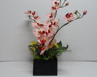 Orchid Arrangement, Pink Colored Orchid Arrangement, Elegant Orchid Arrangement, Orchid Floral Arrangement, Elegant Table Arrangement