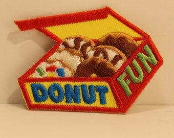 Donut Fun Patch - doughnut baking food breakfast sweets pastry