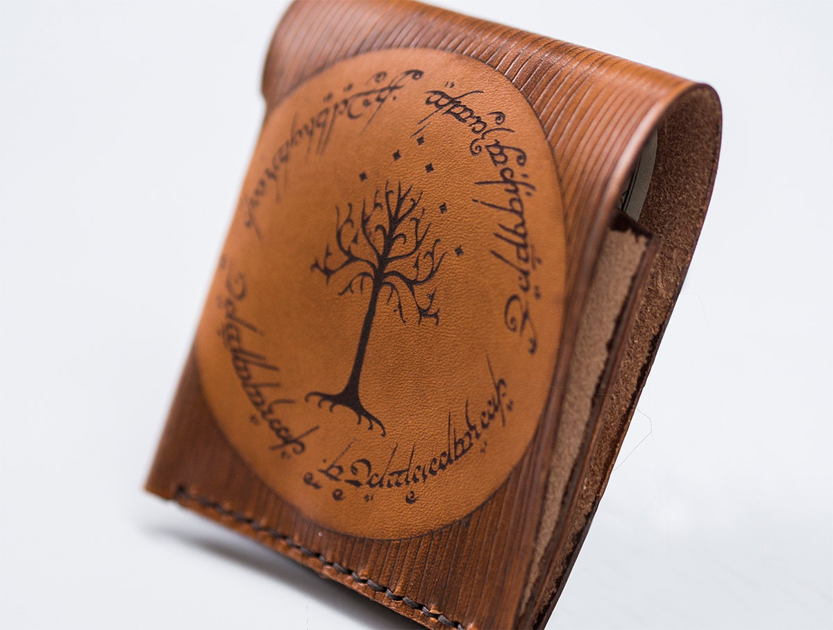 Gondor tree leather wallet Lord of the rings inspired wallet