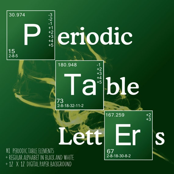 Science letters periodic table elements breaking bad style science letters periodic table elements breaking bad style 130 letters pngs and digital paper instant download from sandyfordstudio on etsy urtaz Gallery