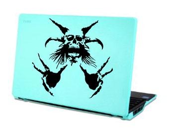Demon Skull Decal sticker laptop skin wall decor car graphics devil skul AA15