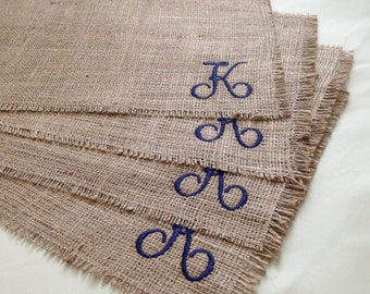 Burlap Placemats, Set/4, Personalized/Monogrammed