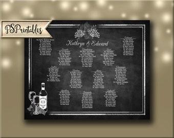 Winery Wedding Seating chart, vineyard wedding seating chart, wine seating chart, winery seating chart, vineyard seating chart