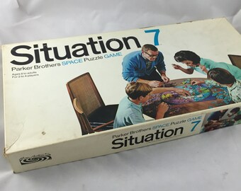 Vintage Board Game Situation 7, 1969 Parker Brothers
