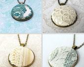 Memory Necklace / Sentimental Necklace / Boho Wedding Necklace / Wedding Dress Lace Necklace / Keepsake Jewelry / Boho Lace Necklace
