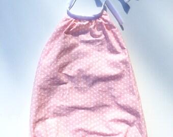 Pink polka dot playsuit size 6-12 months (0)