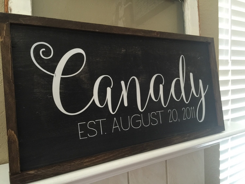 Wedding Gift Signs: Custom Name Signs Wedding Gift Family Name Sign