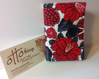 Red and Black Flowered Tea Wallet