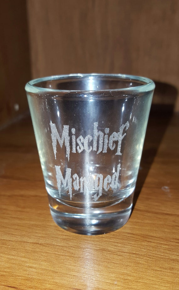 Laser Engraved Harry Potter Inspired Shot Glass Mischief