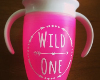 Sippy Cup/Waterbottle Monogram Decal
