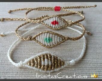 Small macrame evil eye bracelets/macrame bracelets/new colours/fashion bracelets
