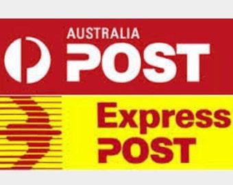 Express postage within Australia . Upgrade to express shipping in Australia