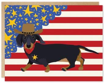 Handmade Blank Greeting Card – Get A Long Little Doggie