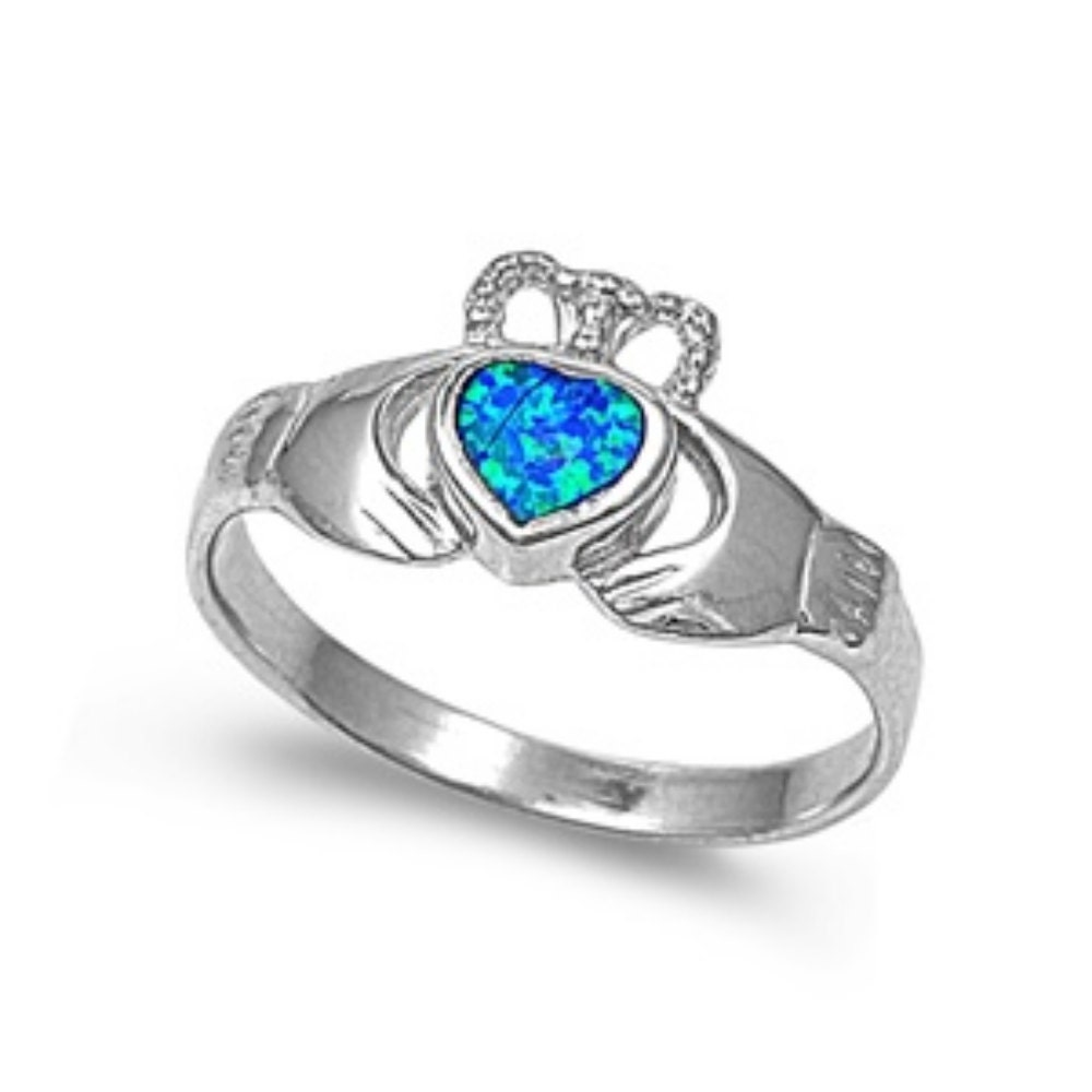 claddagh knot promise engagement ring sterling