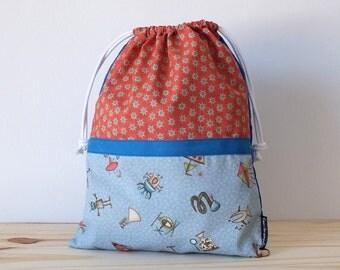Toys bag for kids, lunch bag, reusable snack bag for school