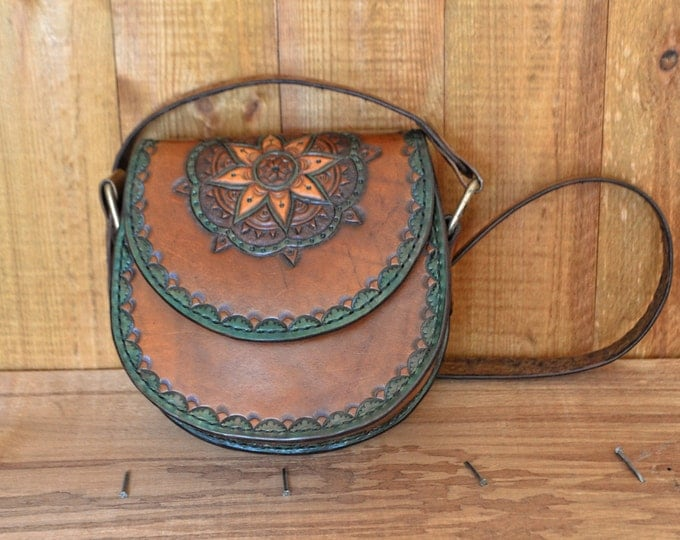 Handmade Leather Bag, Bohemian bag, Hippie leather bags, Leather carving bag, Shoulder bag, Leather handmade messenger bag (satchel)