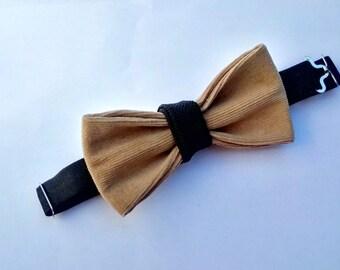 Corduroy Bear Bow Tie