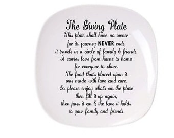The Giving Plate, Plate for friends, Sharing Plate with Friends