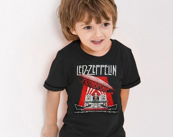 Led Zeppelin Mothership Vintage Retro Graphic UK English Heavy Metal Hard Rock Music Band Cute Kids Boy Girl T-Shirt Tee Tops