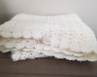 Crocheted receiving blanket