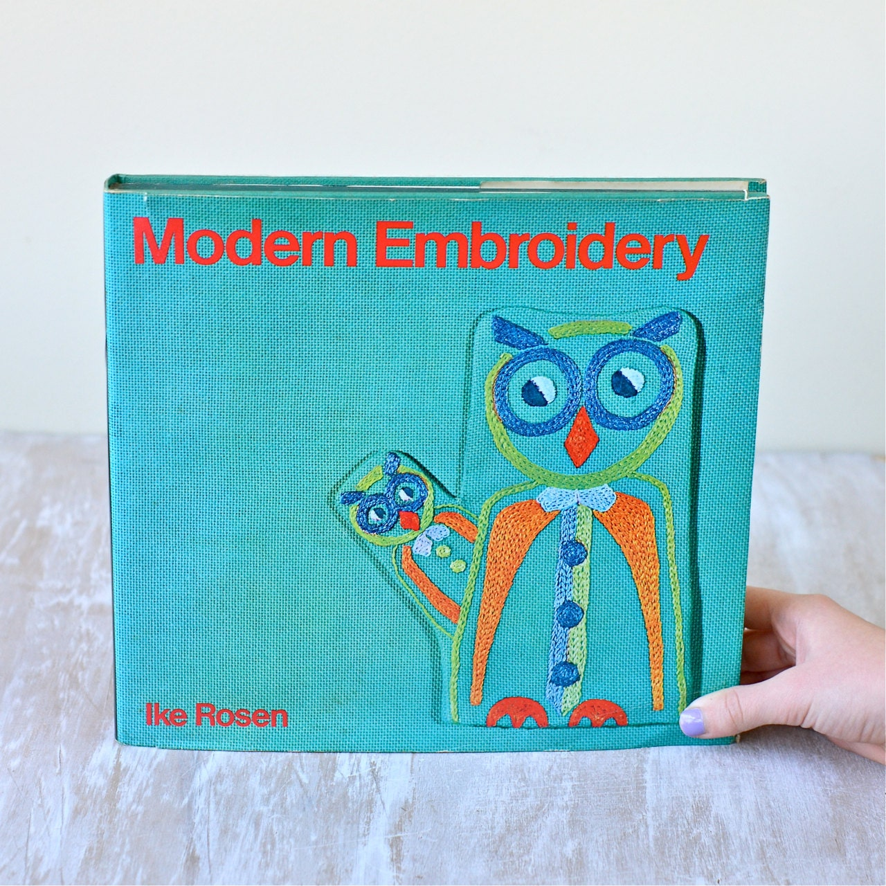 Vintage modern embroidery hardcover book ike