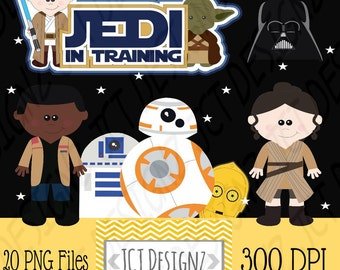 Star Wars Inspired Clipart: The Force, now includes black line art.