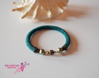 Bead crochet bracelet , beaded bracelet. crocket bracelet