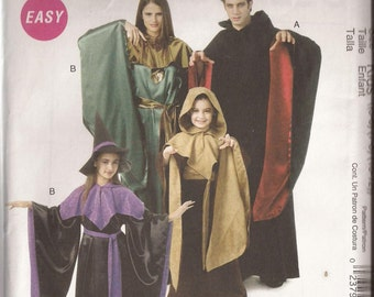 McCalls 6421 Child Renaissance Costume pattern Size 5-12