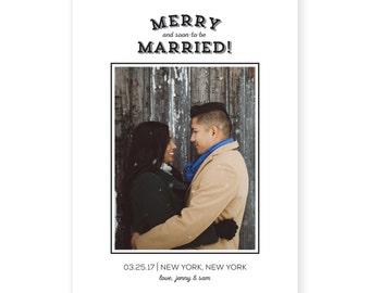 Custom Photo Holiday Card | DIY Printable or Printed | Merry Christmas Card | Christmas Save the Date | 5x7 | #606
