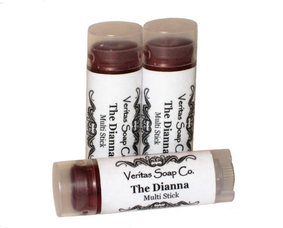 THE DIANNA Multi Stick  - Sheer Cranberry Makeup Stick with Gold & Copper Shimmer for Lips/Cheeks/Eyes - Vegan / Lips / Eye Gloss / Blush