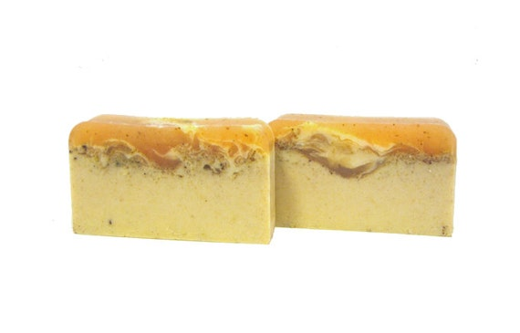The PUMPKIN CREAM Bar - Pumpkin Pulp & Pumpkin Butter To Help Repair Damaged Skin / Shea Butter / Holiday / Gift / Cinnamon / Pumpkin Pie
