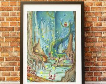 Yoda , STAR WARS, illustration , watercolor, jedi