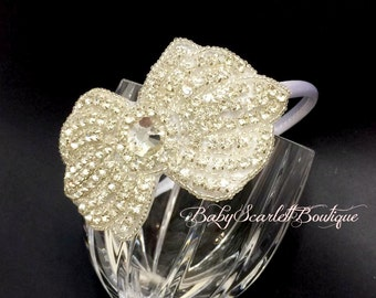 Beautiful Rhinestone Toddler Hard Headband,Girl Headband,Wedding Accessories