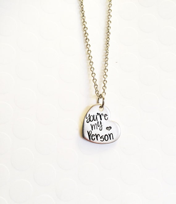 you re my person best friends necklace you re by buymeapresent