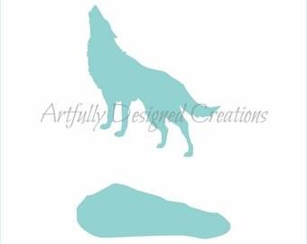 Howling Wolf Stencil