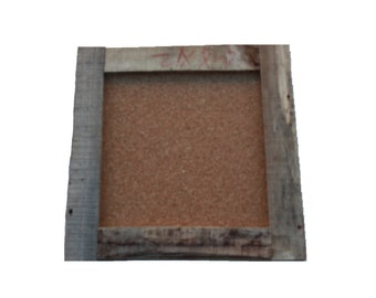 """Rustic Cork Board w Square Corners Aprox 16"""" x 16"""" Reclaimed Shipping Pallet"""