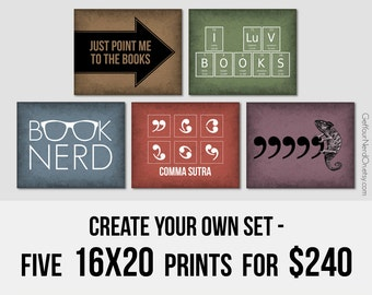 Nerd Posters - Create Your Own Set of 5 16x20 Prints