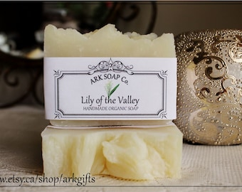 Lily Of The Valley Soap - Handmade - Organic - Made in Manitoba - Canadian - ARK Gifts - ARK Ceramics and Gifts - Hot Process - Organic Oils