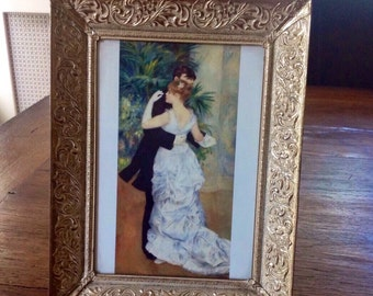 Renoir Picture........Dancing Couple......Ornate gold frame....1970s