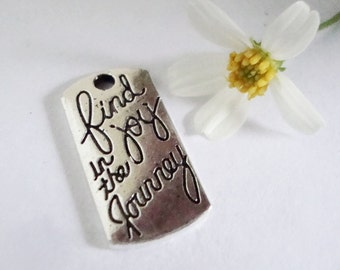 2 Find Joy in the Journey Word Charm,2 pcs