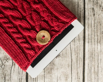 Hayley - Knit iPad/iPad Air Cover Case - Red